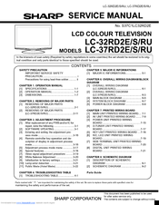SHARP LC-32RD2 SERVICE MANUAL Pdf Download