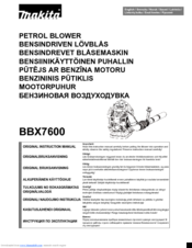 Makita BBX7600 Original Instruction Manual