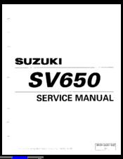 SUZUKI 1999 SV650 SERVICE MANUAL Pdf Download