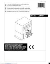 Bft LEM7 Manuals