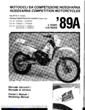 Husqvarna 1989 510 TX Owner's Manual / Workshop Manual
