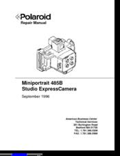 polaroid miniportrait 485b manuals rh manualslib com polaroid 600se repair manual polaroid 600 repair manual