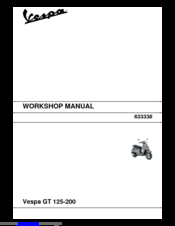 VESPA GT 200 WORKSHOP MANUAL Pdf Download
