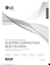 LG LSWS306ST Installation Manual