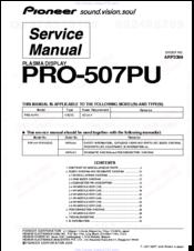 pioneer pro 507pu manuals rh manualslib com Old Pioneer Plasma TV Manual Pioneer Plasma TV Troubleshooting