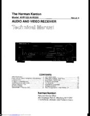HARMAN KARDON AVR 100 TECHNICAL MANUAL Pdf Download. on