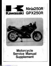 KAWASAKI 1987 NINJA 250 R SUPPLEMENTAL SERVICE MANUAL Pdf Download