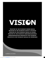 Vision tm 1800 manuals vision tm 1800 owners manual publicscrutiny Gallery