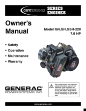 generac power systems ohvi gsh 220 manuals rh manualslib com