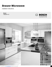 Bosch Hmd8451uc Installation Instructions Manual Pdf Download Manualslib