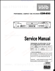 hhb cdr 850 manuals rh manualslib com Online User Guide Quick Reference Guide