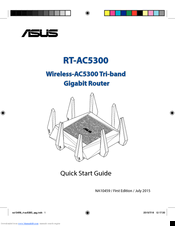 Asus RT-AC5300 Quick Start Manual