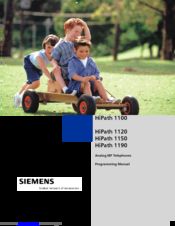 Siemens HiPath 1100 Programming Manual