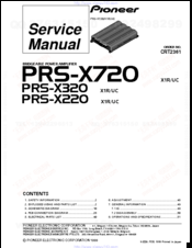 pioneer prs x720 manuals rh manualslib com Boat Stereo Amp Wiring Diagram 4 Channel Amp Wiring Diagram