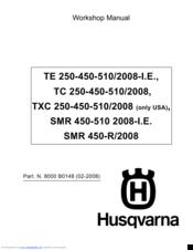husqvarna te tc 250 450 510 sm 450 510 r service repair manual pdf 2007 2008