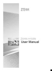 ZTE ZXHN H108N USER MANUAL Pdf Download