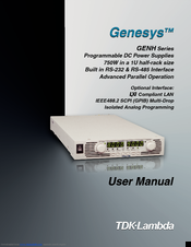 Tdk-lambda Genesys GENH40-19 Manuals