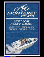 monterey 264 fs fsx manuals rh manualslib com boat owners manuals for sale boat owners manuals checkmate