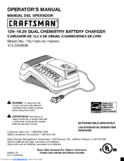 Craftsman 315.CH2021 Operator's Manual