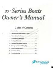 Cruisers Yachts 37 Series Manuals