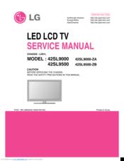 LG 42SL9000 SERVICE MANUAL Pdf Download