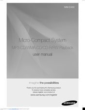 Samsung MM-E430 User Manual