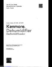 Kenmore 407.52501 Use & Care Manual