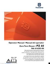 Husqvarna PZ 60 Manuals