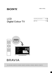 sony bravia kdl 55nx720 manuals rh manualslib com Sony Wega TV Manual Sony TV Calibration