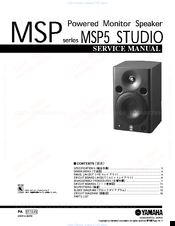Yamaha MSP5 - Speaker - 67 Watt Service Manual