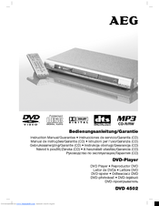 AEG DVD 4502 Instruction Manual