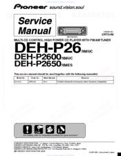 pioneer supertuner iii d deh p2650 manuals rh manualslib com Pro-Form 955R Recumbent Bike Manual Atari Climber Manual 2600
