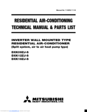 Mitsubishi Electric DXK12ZJ-S Technical Manual