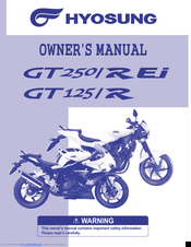 HYOSUNG GT250 REI OWNER'S MANUAL Pdf Download