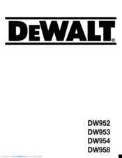 dewalt dw995 manual