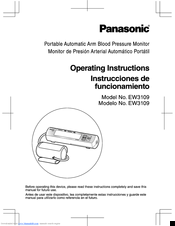 Panasonic EW-3109 Operating Instructions Manual