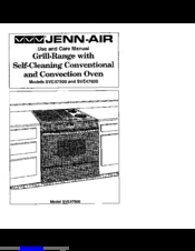 Jenn-Air SVE47500 Use And Care Manual