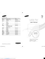 Samsung UA46ES8000 User Manual