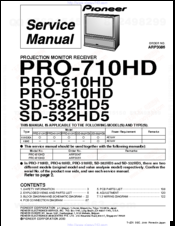 Pioneer SD-532HD5 Service Manual