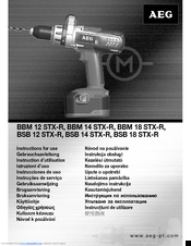 AEG BBM 12 STX-R Instructions For Use Manual