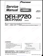 pioneer deh-p720 service manual pdf download | manualslib  manualslib