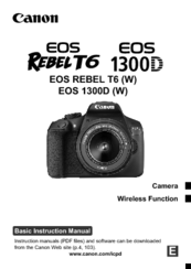CANON EOS REBEL T6 (W) BASIC INSTRUCTION MANUAL Pdf Download