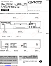 Kenwood DV-303 Service Manual
