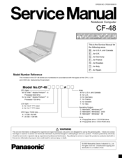 Panasonic toughbook cf-52 service manual & repair guide download.