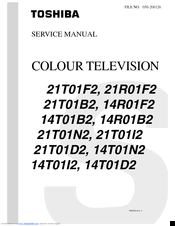 Toshiba 14R01B2 Service Manual