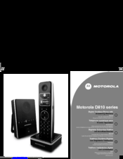 Motorola D810 series Manual
