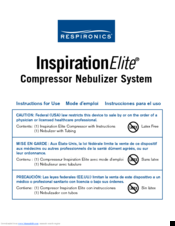 respironics inspiration elite manuals rh manualslib com Respironics Inspiration Elite Nebulizer Parts philips respironics inspiration elite hs456 manual