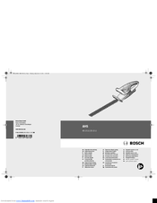 Bosch AHS 35-15 LI Original Instructions Manual