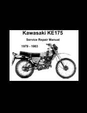 Kawasaki 1979 KE175 Service & Repair Manual