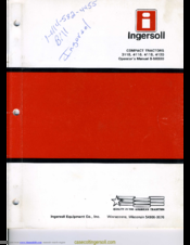ingersoll tractor manuals